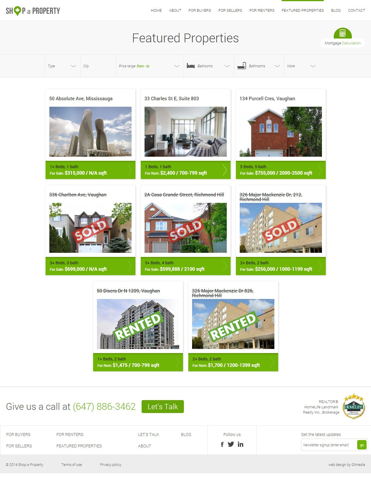 Shop a Property Featured Properties