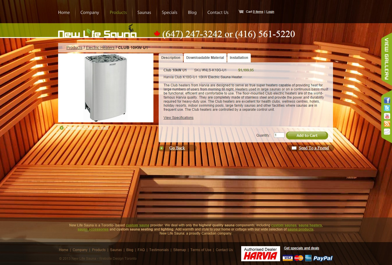 New Life Sauna Products