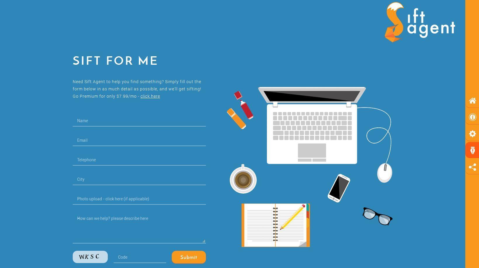 website design sift agent