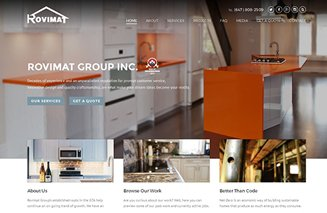 website design for Rovimat