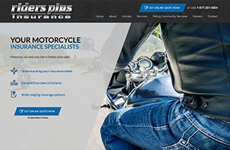 Web design and development for riders plus