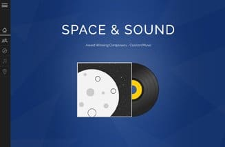 Custom website design for Space and Sound