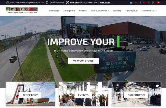 Custom Website Design for Improve Canada | Gilmedia